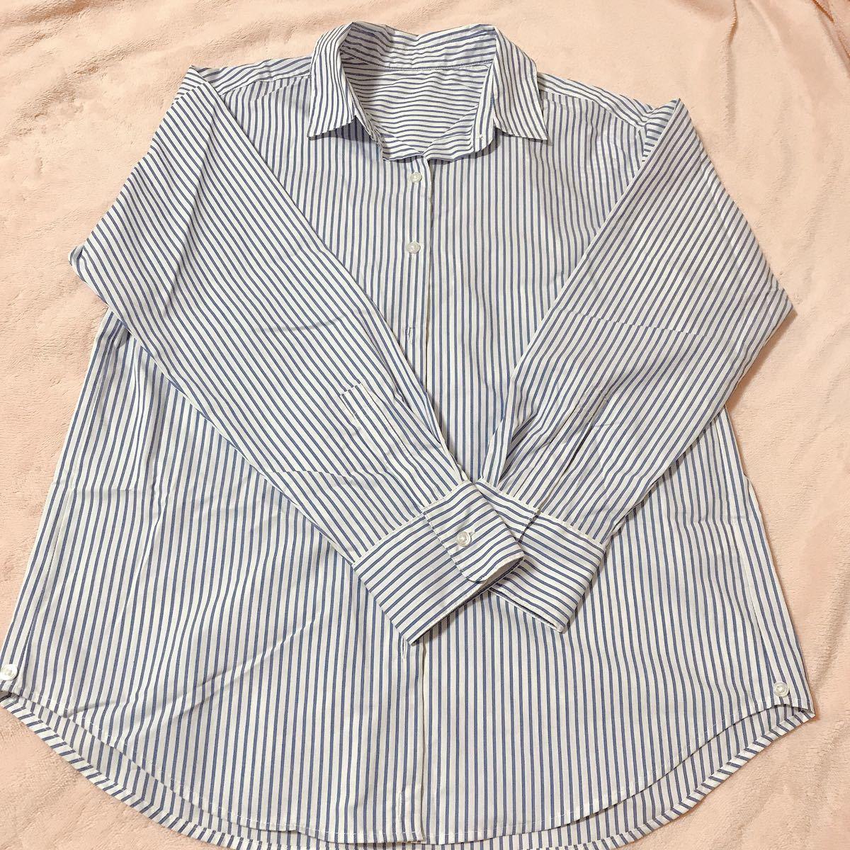 ストライプシャツ オフィスカジュアル 長袖シャツ