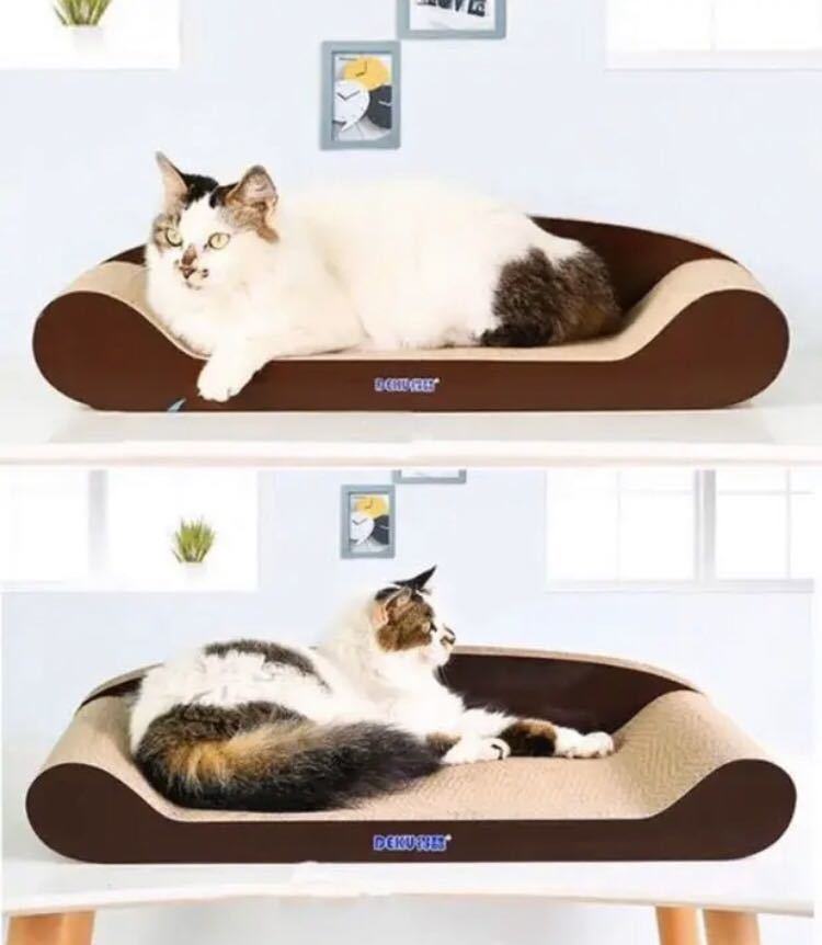 【★★角がないから怪我の心配なし♪★★愛猫のストレス解消に最適!★ペットベッドとしても最適♪♪】猫 スクラッチャー 爪とぎ ベッド