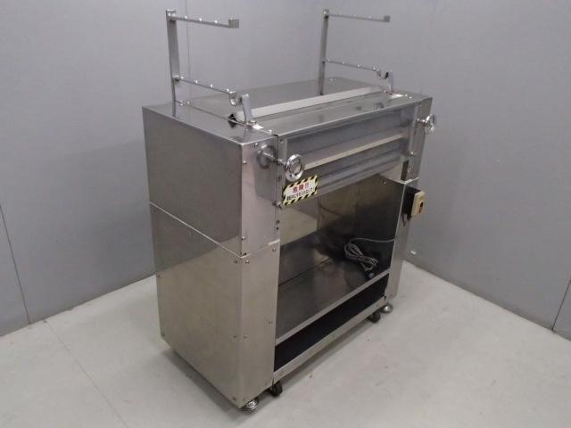 05-15579 中古品 製麺機(切出し機) 業務用 製麺 100V 電気式 ステンレス 麺 生地 切る 自家製 手作り うどん そば 手打ち カッティング _画像1