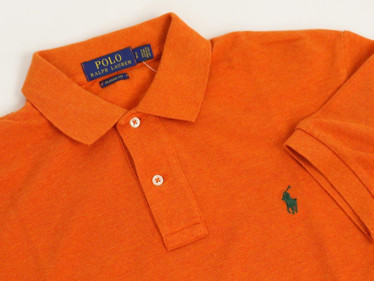 新品 アウトレット 946 XLサイズ メンズ 半袖 シャツ polo ralph lauren ポロ ラルフ ローレン オレンジ_画像2