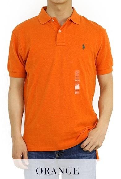 新品 アウトレット 946 XLサイズ メンズ 半袖 シャツ polo ralph lauren ポロ ラルフ ローレン オレンジ_画像1