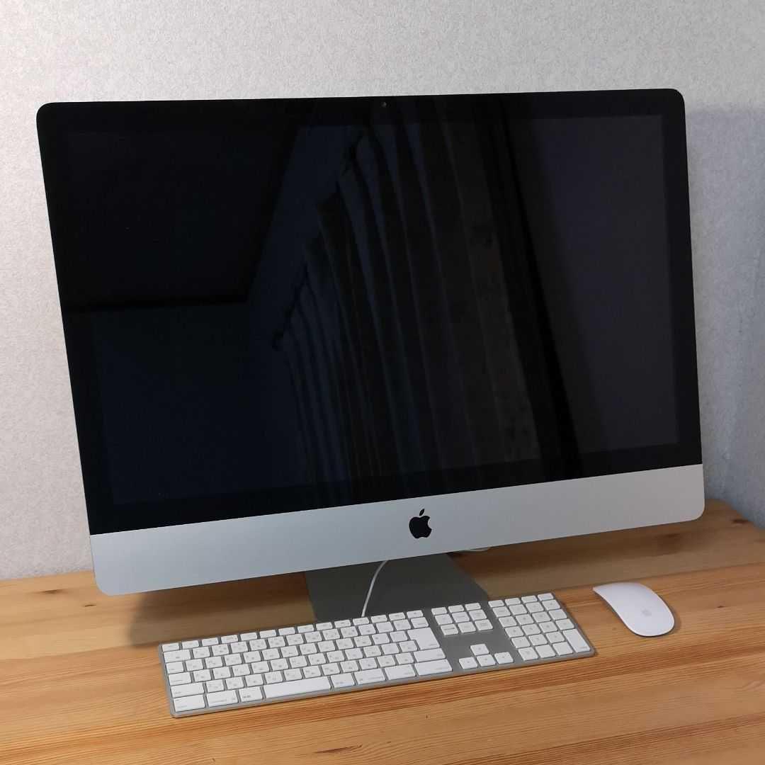 【美品,2018年5月購入証明付】i Mac 27インチ 5k ,Core i5 ,16GB,PCie SSD + 1TB HDD,OS Catalina