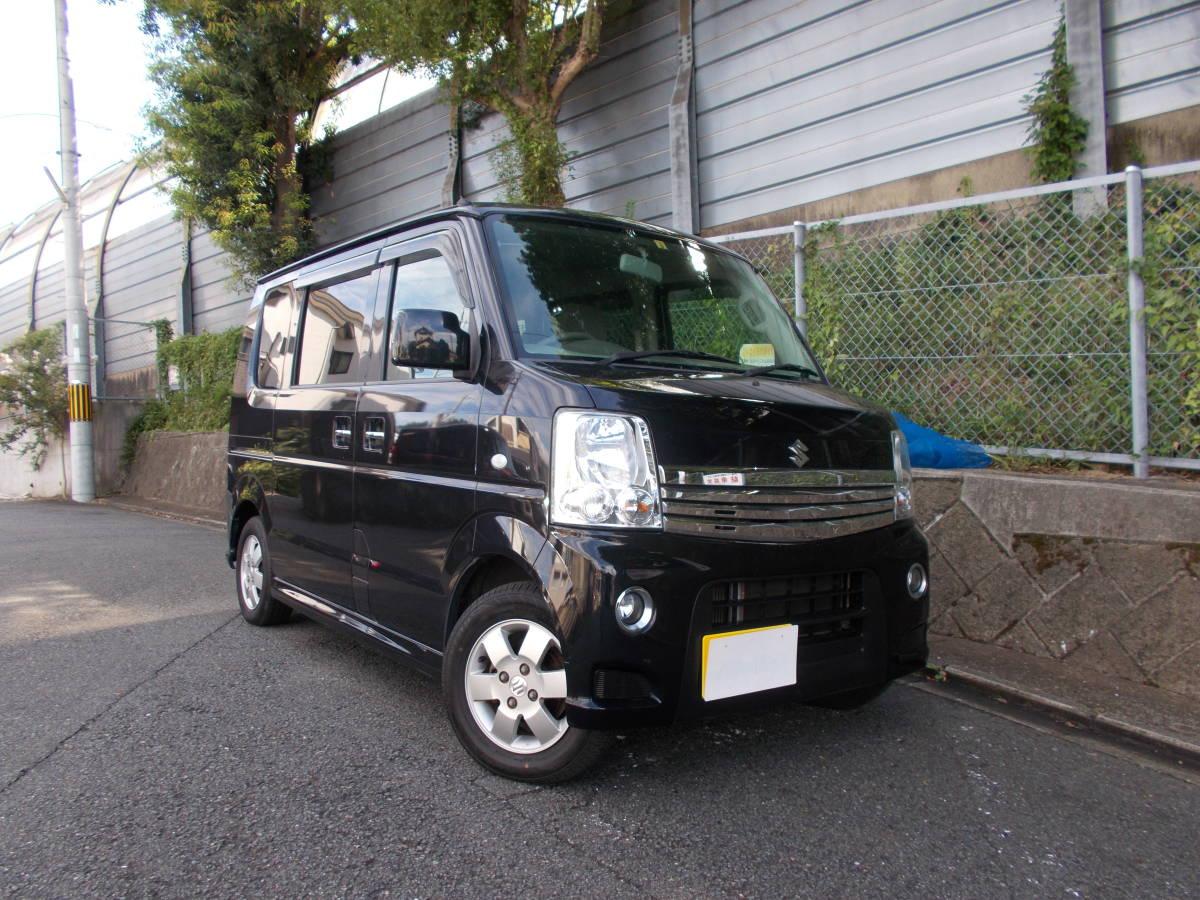 「京都発 H25 エブリーワゴンPZターボ 人気のブラック・パワースライドドア 地デジ・ナビ 検4/9まで 乗って帰れます!」の画像2