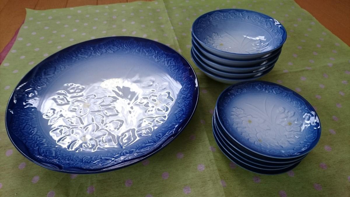 有田焼大皿1枚+小皿5+5枚