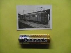 rT【写真】長野電鉄 電車 モハ350形+貨車 ワキ 昭和20年代 [デハ350形→○→モハ600形→解体_画像2