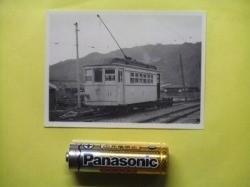 rT【写真】野上電気鉄道 電車 デハ11 昭和27年 日方 (木造 2軸 ダブルルーフ ポール式_画像2
