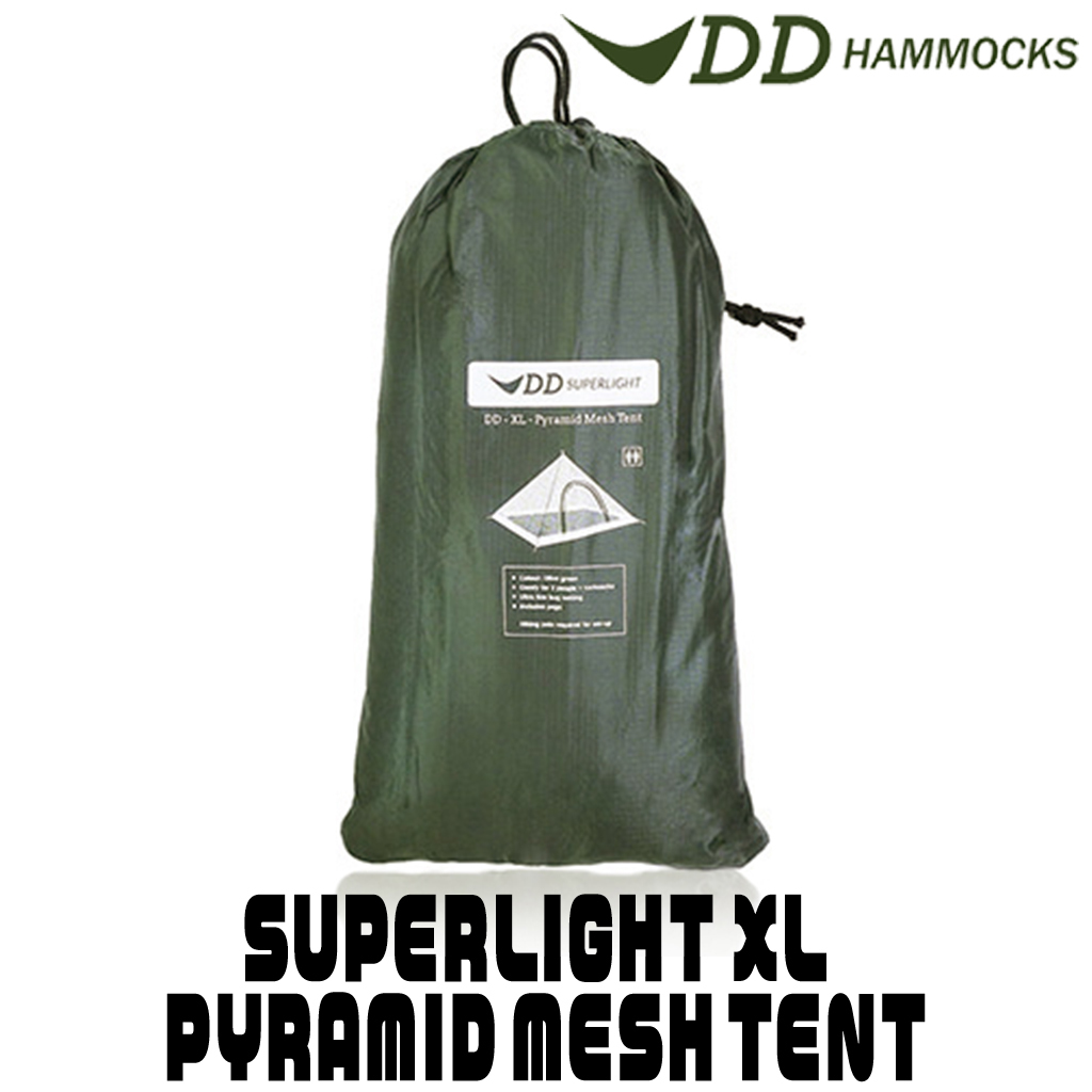 新品 DD Hammocks スーパーライト XL ピラミッドメッシュテント SUPERLIGHT - XL PYRAMID MESH TENT 蚊帳 ヒロシ 1人キャンプ DDハンモック