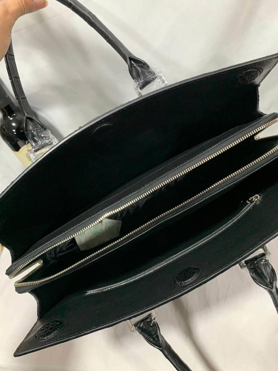 上品 クロコダイルレザー ブリーフケース 書類鞄 トートバッグ ビジネスバッグ ハンドバッグ メンズバッグ ワニ革 本革 2WAY A4対応_画像5