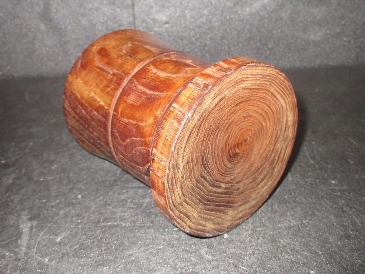 ●文房具● 時代 自然木(天然木)製  筆立て 筆筒 (高さ12.3㎝)  【日本古美術?中国唐物?】  _画像5
