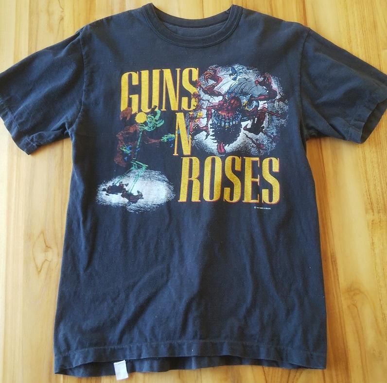 GUNS N' ROSES ガンズ・アンド・ローゼス 1987年 初来日 ツアーTシャツ 発禁ジャケ 正規品 _画像1