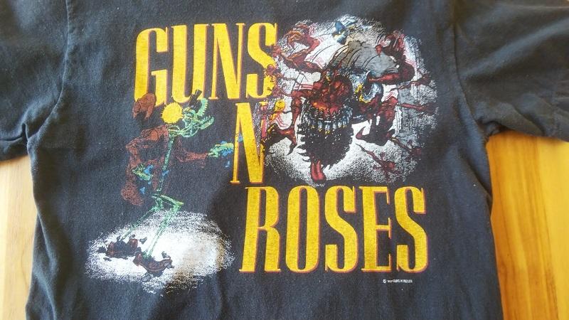 GUNS N' ROSES ガンズ・アンド・ローゼス 1987年 初来日 ツアーTシャツ 発禁ジャケ 正規品 _画像3