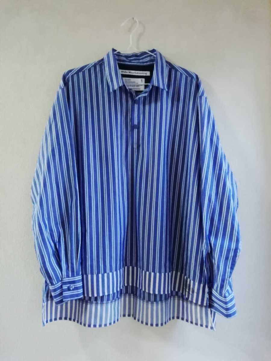 19SS White Mountaineering STRIPE PULLOVER SHIRT size1_画像1
