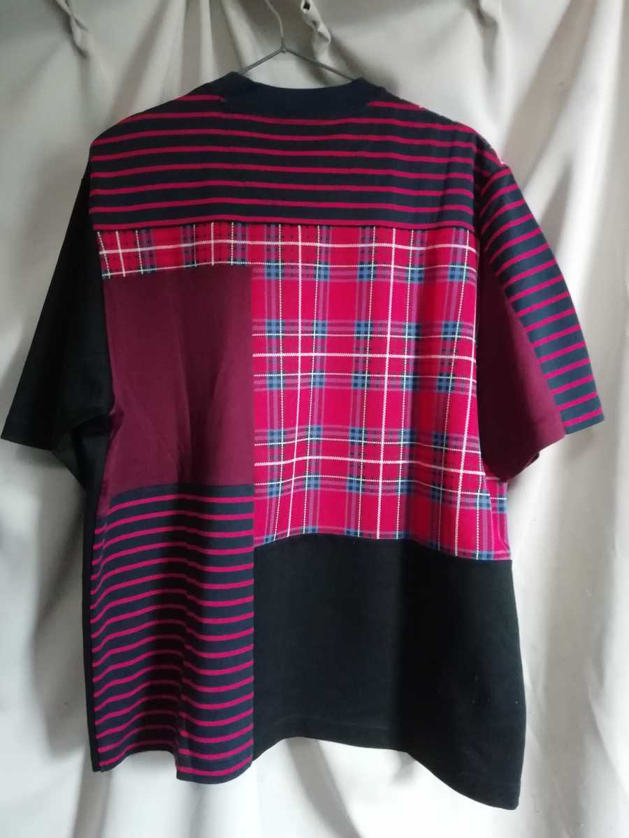 20SS White Mountaineering CONTRASTED STRIPE T-SHIRT size2_画像2