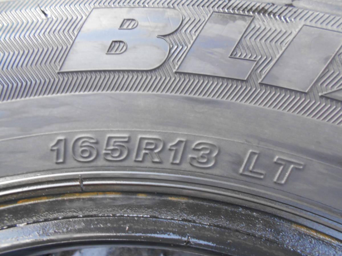 b839 送料無料 165R13 冬2本セット スタッドレス LT 8PR 165-13 BRIDGESTONE BLIZZAK VL1 バン 商用車_画像4