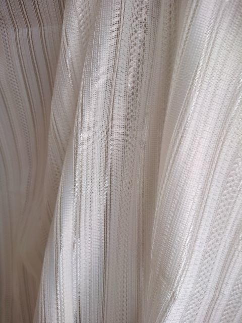 素敵なミラーレースカーテン生地(150×155cm) 視線カット☆シンプルで使いやすいストライプ柄 お買い得ファブリック★布地はぎれ 材料_画像5