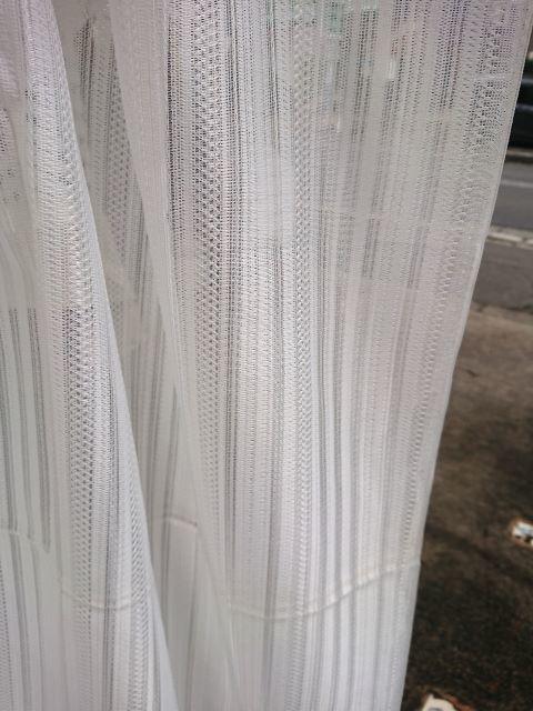 素敵なミラーレースカーテン生地(150×155cm) 視線カット☆シンプルで使いやすいストライプ柄 お買い得ファブリック★布地はぎれ 材料_画像7