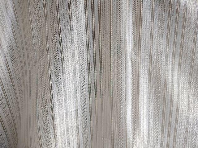 素敵なミラーレースカーテン生地(150×155cm) 視線カット☆シンプルで使いやすいストライプ柄 お買い得ファブリック★布地はぎれ 材料_画像3