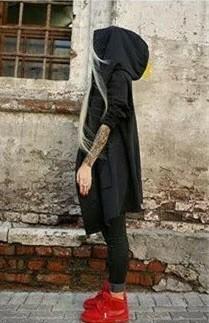 ロック系 モード系 ロングカーディガン 黒 個性的 unisex 秋服 羽織