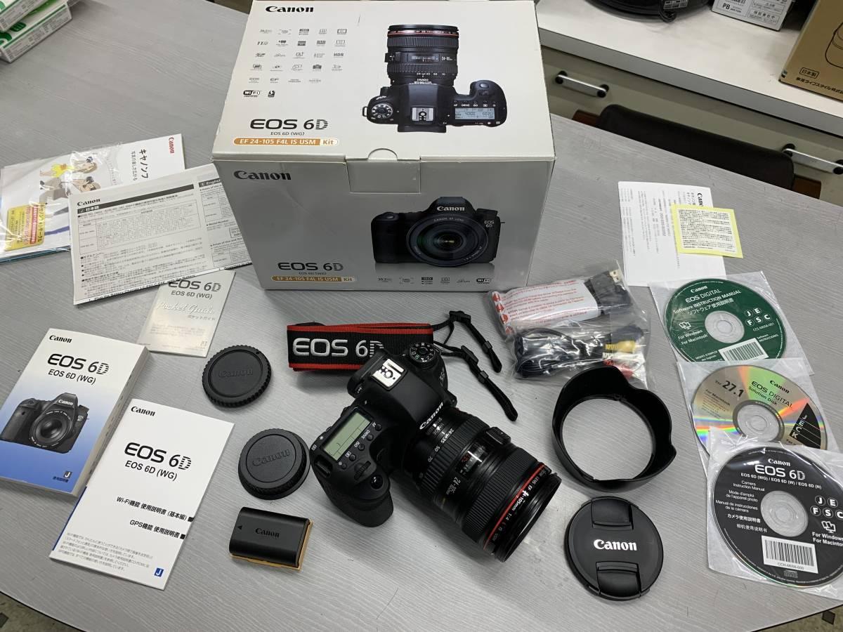 売り切り!!CANON EOS 6D EF 24-105 F4L IS USM kit 完全動作品、不具合一切なし!バッテリー良好 一眼レフ