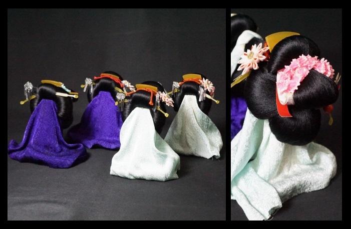 日本人形 髪型 かつら 舞妓 日本髪