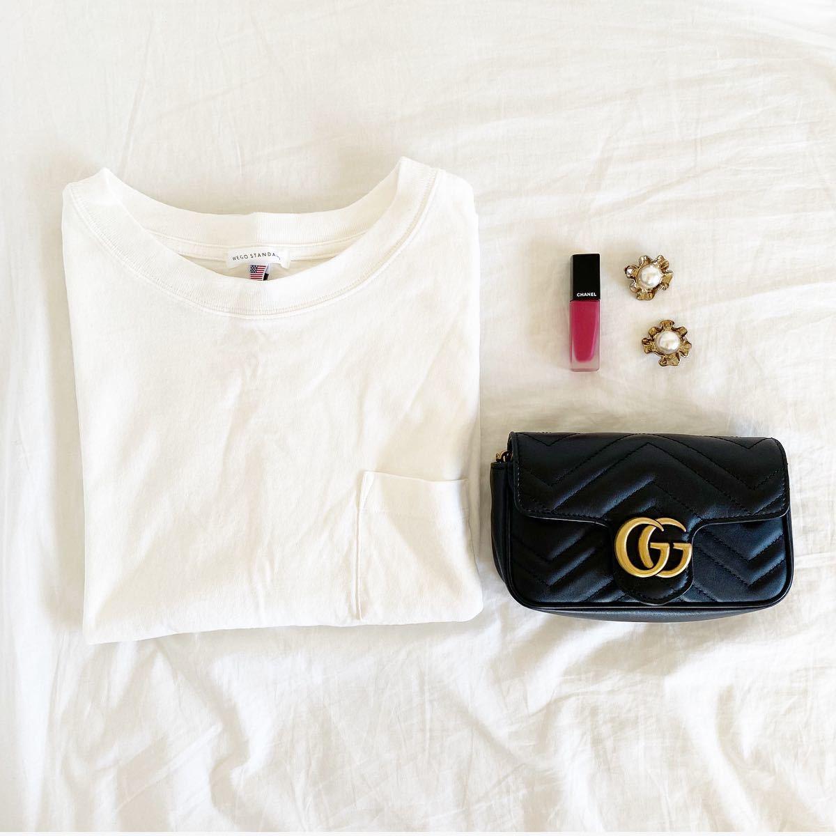 白 Tシャツ ホワイト 無地 カットソー コットン ポケットTシャツ