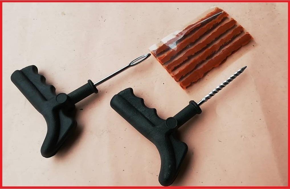 パンク修理キット c 即決 チューブレス用 ツーリング 携帯品 パンク タイヤ修理 修理工具_画像1