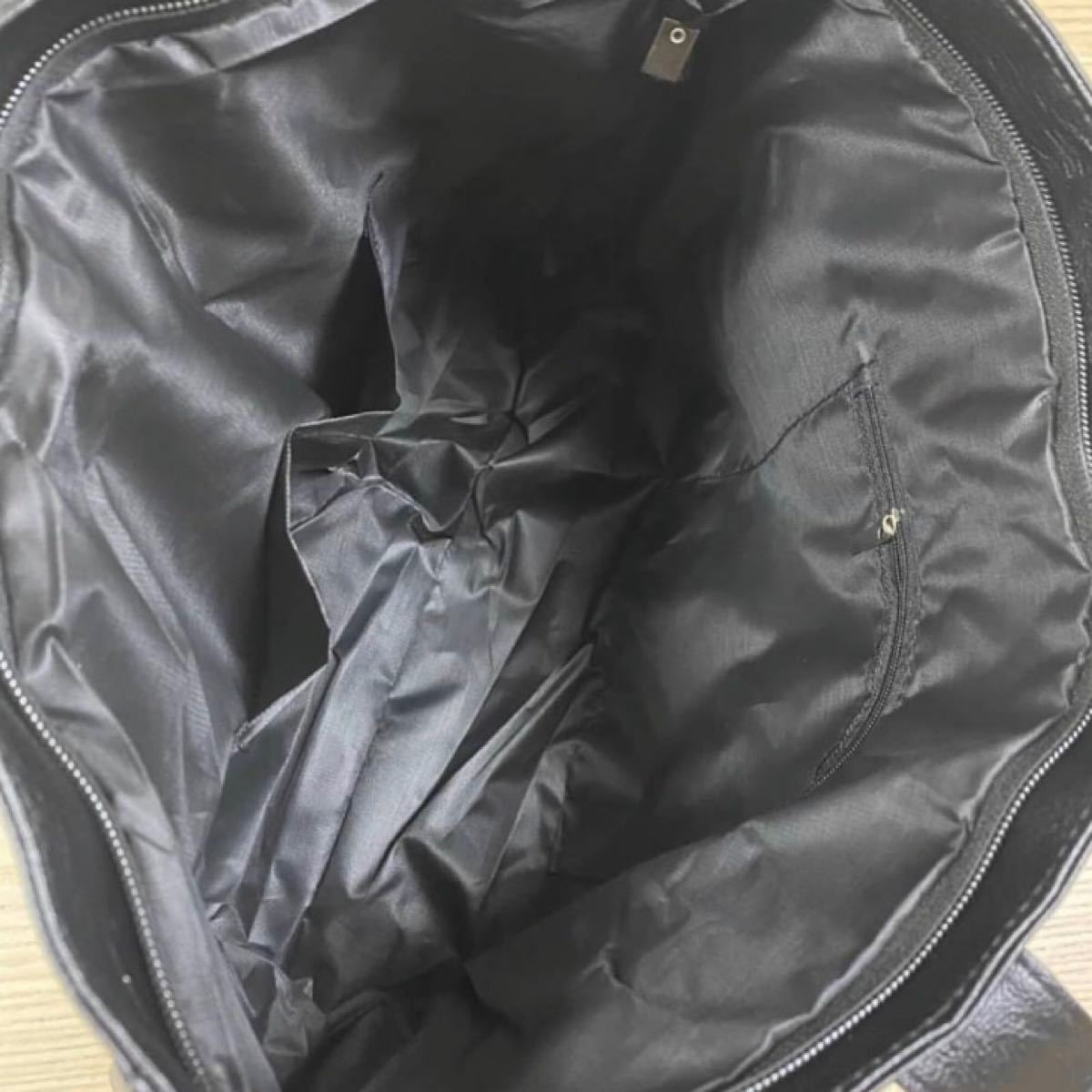 トートバッグ ビジネスバッグ 大容量 革製 メンズ レディース ブラック