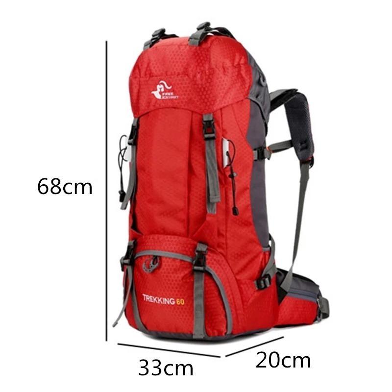 M1077:60L アウトドア バックパック キャンプ 登山 バッグ 防水 ハイキング モール スポーツ リュック_画像7