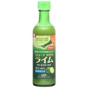 送料無料 メキシコ産ライム果汁290ml ストレート100%果汁 香料・保存料不使用_画像1