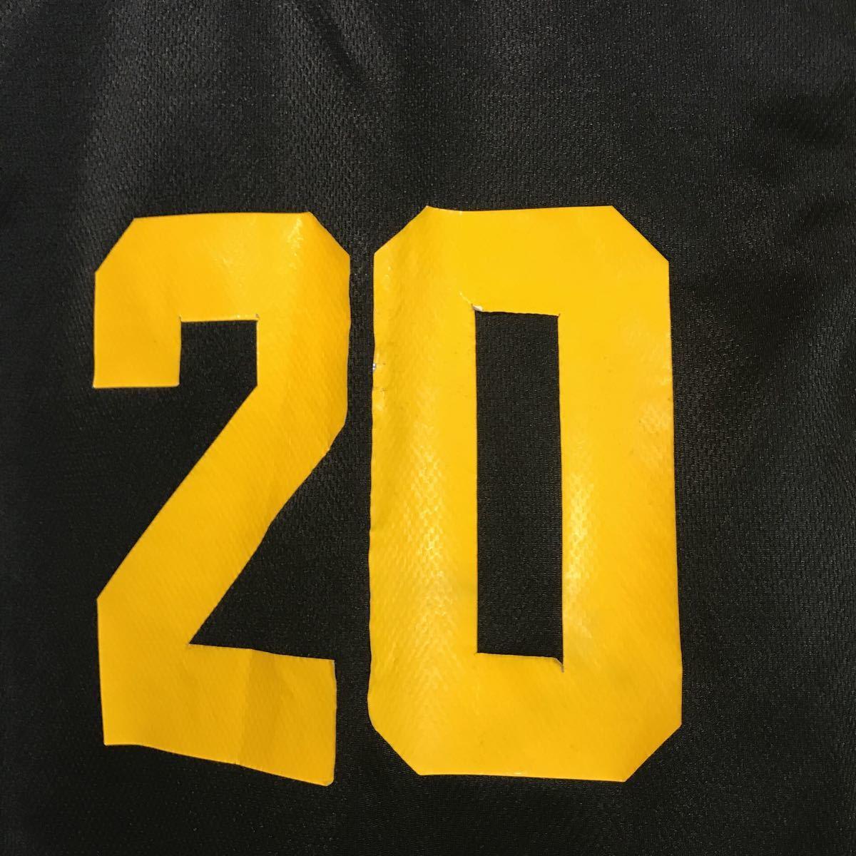 和田 女子バスケットボール部 ブルファイトbull fight #20 黒 ブラック バスケユニフォーム バスケットボール 上下セット Mサイズ_画像8