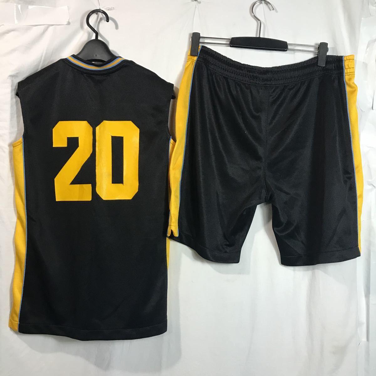 和田 女子バスケットボール部 ブルファイトbull fight #20 黒 ブラック バスケユニフォーム バスケットボール 上下セット Mサイズ_画像7