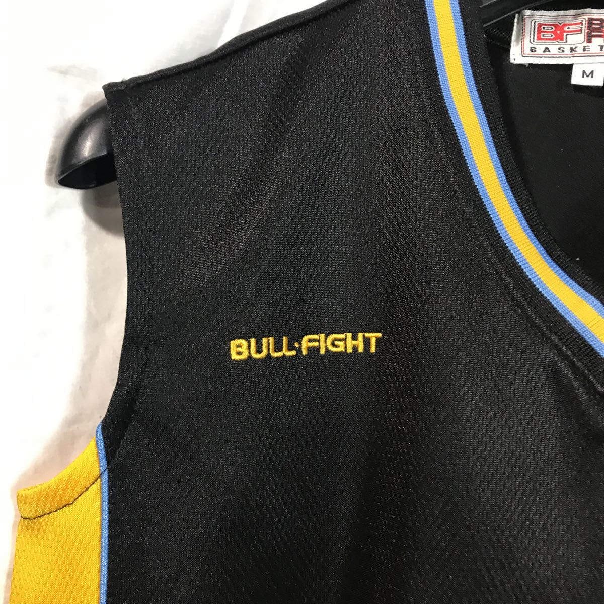 和田 女子バスケットボール部 ブルファイトbull fight #20 黒 ブラック バスケユニフォーム バスケットボール 上下セット Mサイズ_画像3