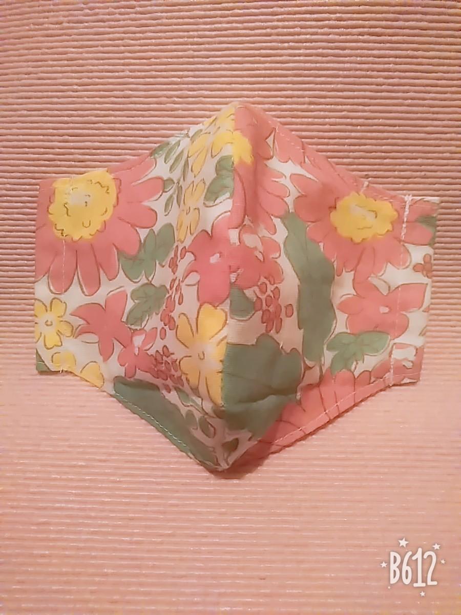 インナーガーゼ 立体インナー ハンドメイド 花柄 大人ふつうサイズ