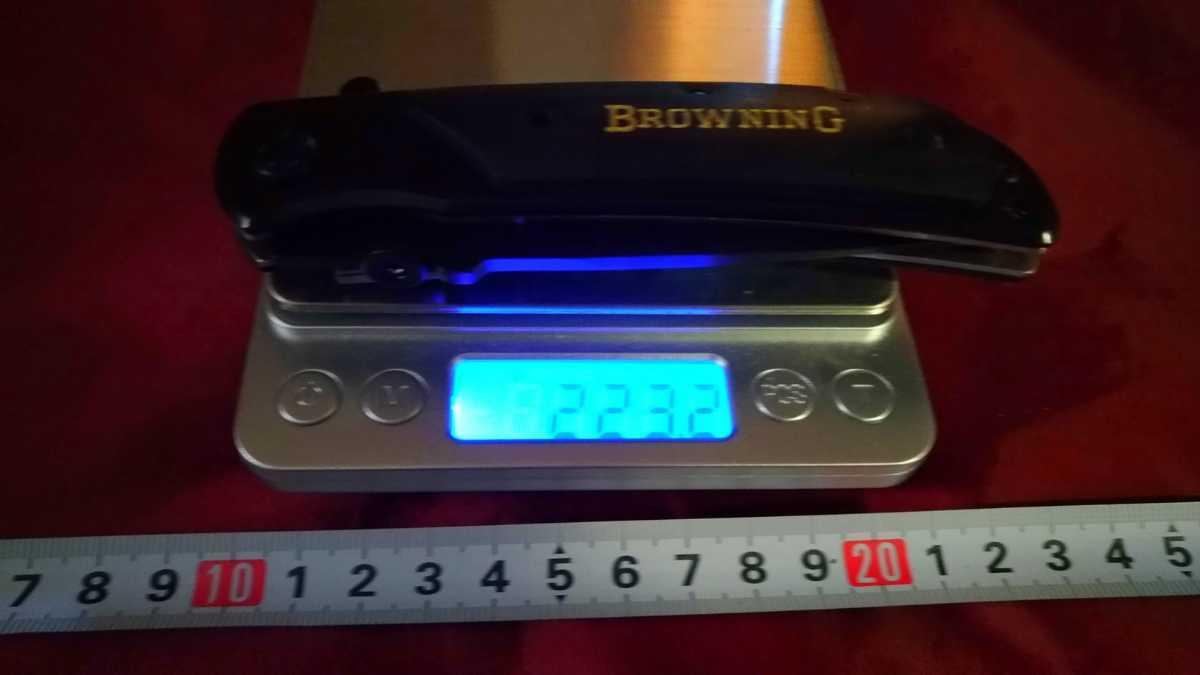 436*フォールディングナイフ 折りたたみ Browning