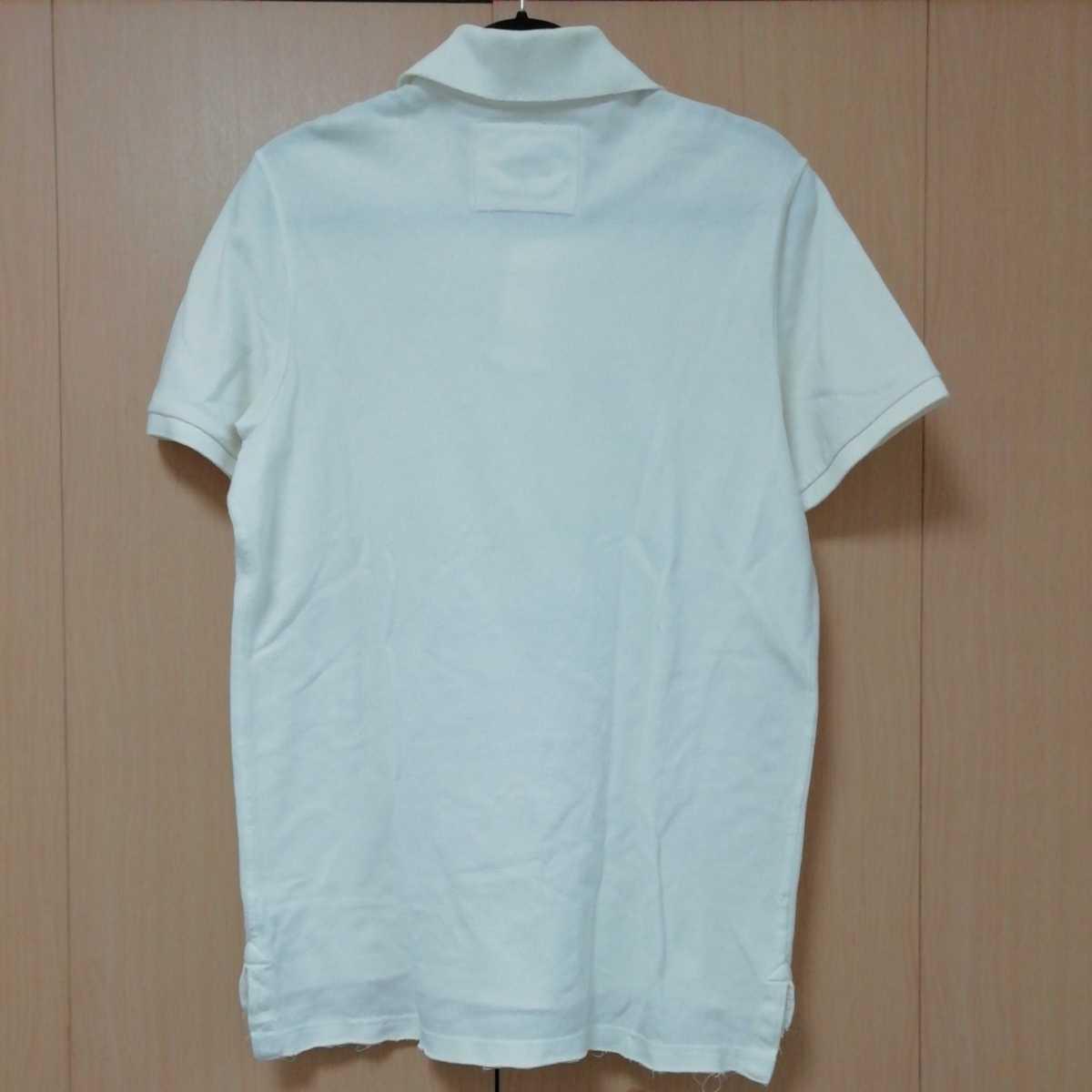 アバクロンビー&フィッチ 半袖ポロシャツ M ホワイト