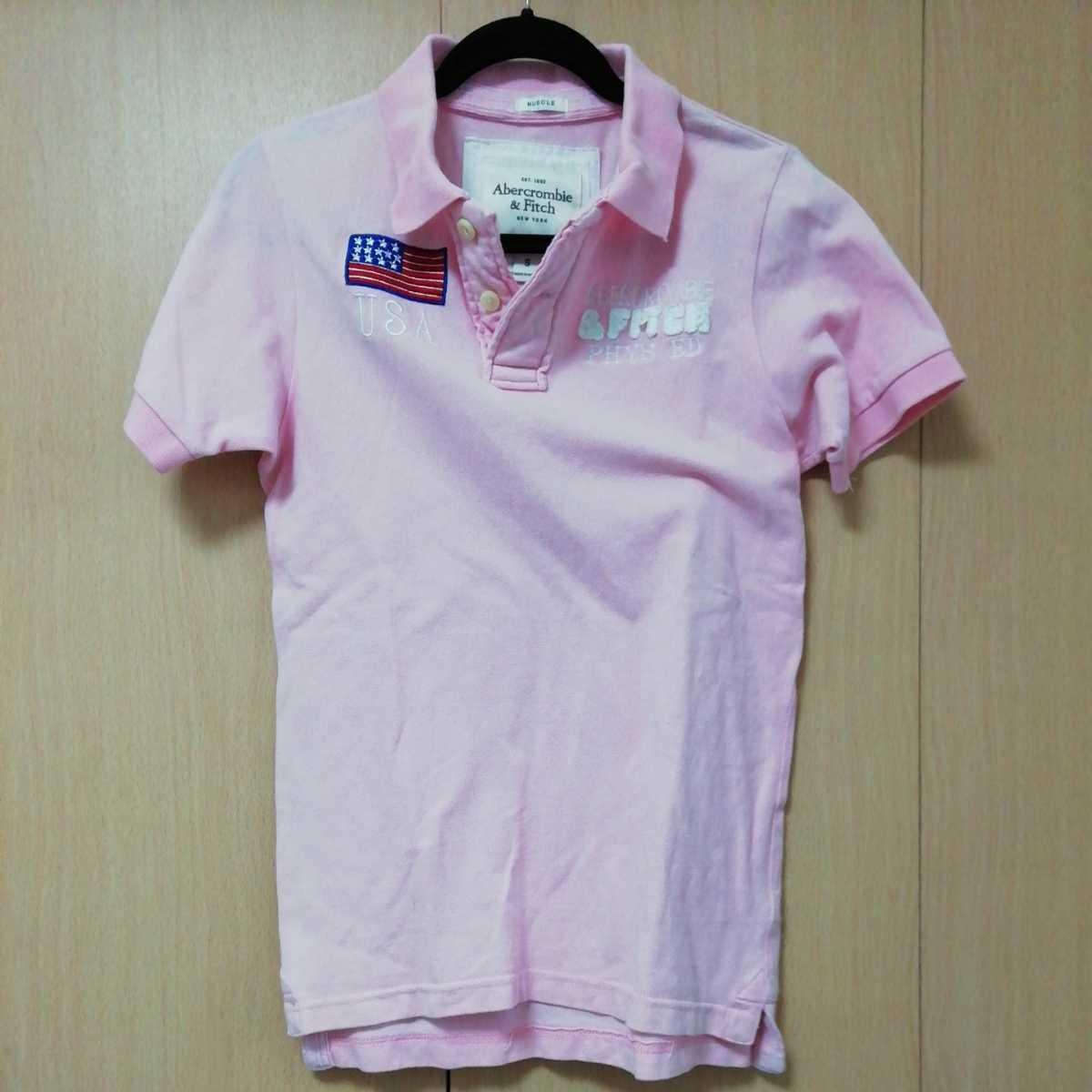 アバクロンビー&フィッチ 半袖ポロシャツ S ピンク