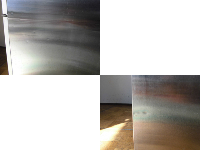 中古厨房 大和冷機 ダイワ 業務用 縦型 4面 冷凍冷蔵庫 413S1-EC 3相 200V 1凍3蔵 冷蔵777L 冷凍239L W1200×D800×H1905mm_画像5