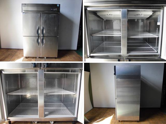 中古厨房 大和冷機 ダイワ 業務用 縦型 4面 冷凍冷蔵庫 413S1-EC 3相 200V 1凍3蔵 冷蔵777L 冷凍239L W1200×D800×H1905mm_画像2