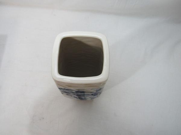 YF09447 【 古い 花瓶 色絵 陶器 陶印無 和光造 共箱 】検)染付 茶道具 茶事 華道具 一輪挿し 花入れ 華道 花器 花活 花生 いけばな 飾りⅱ_画像3