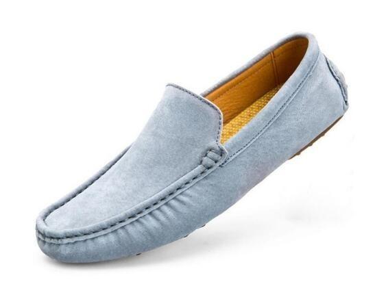 ローファー スリッポン 新品メンズ ドライビングシューズ カジュアル 紳士靴 グレー 25.5cm_画像5