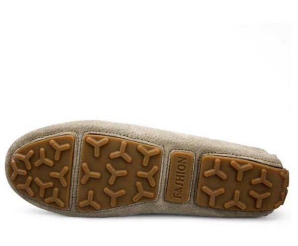 ローファー スリッポン 新品メンズ ドライビングシューズ カジュアル 紳士靴 グレー 25.5cm_画像6