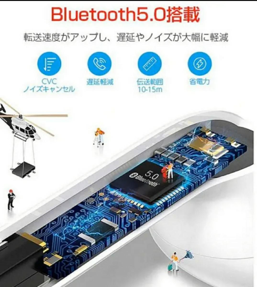 Bluetoothイヤホン Bluetooth5.0 完全ワイヤレスイヤホン