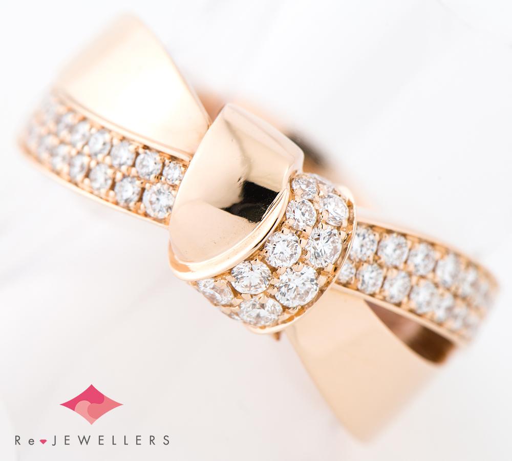 ショーメ リアン・セデュクシオン ダイヤモンド 18金ピンクゴールド 16号 リング・指輪【中古】_画像1