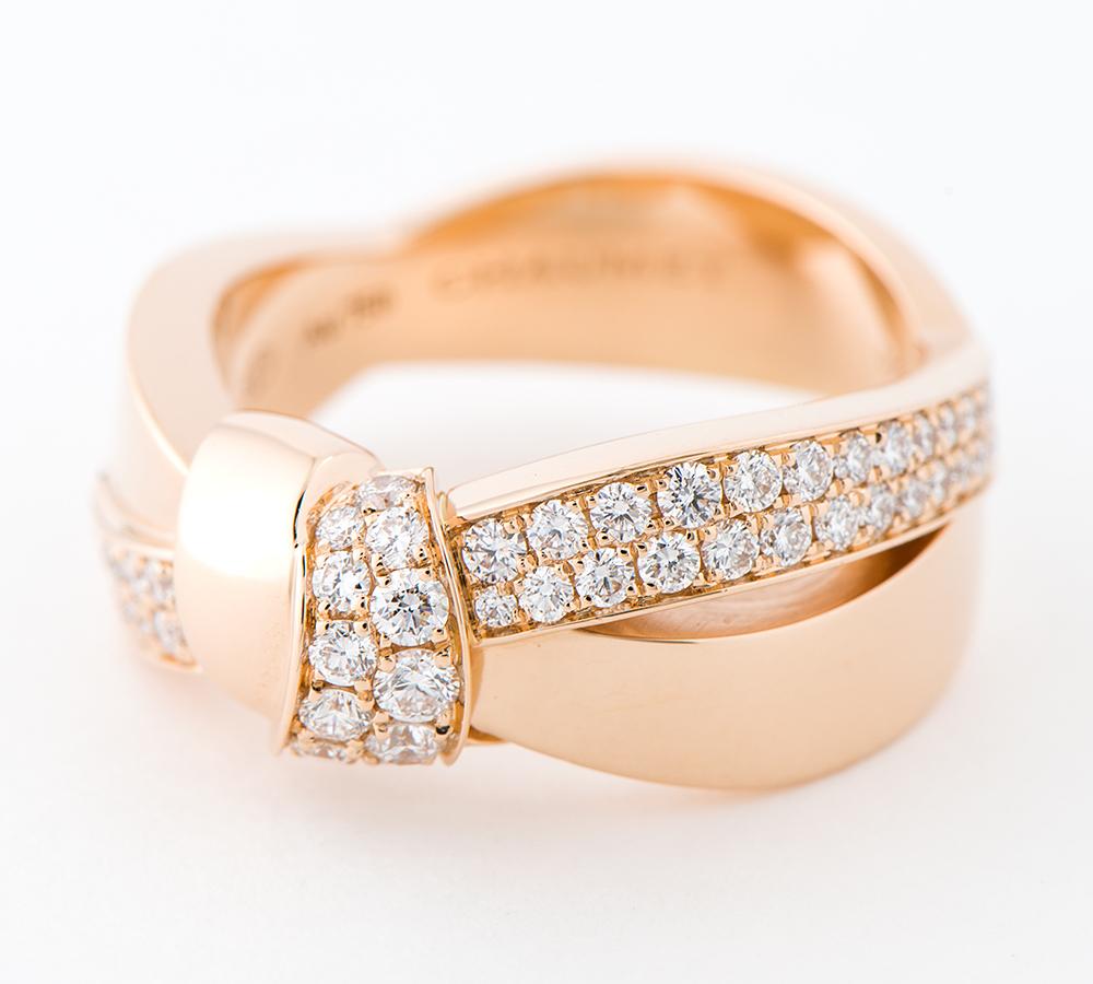 ショーメ リアン・セデュクシオン ダイヤモンド 18金ピンクゴールド 16号 リング・指輪【中古】_画像2