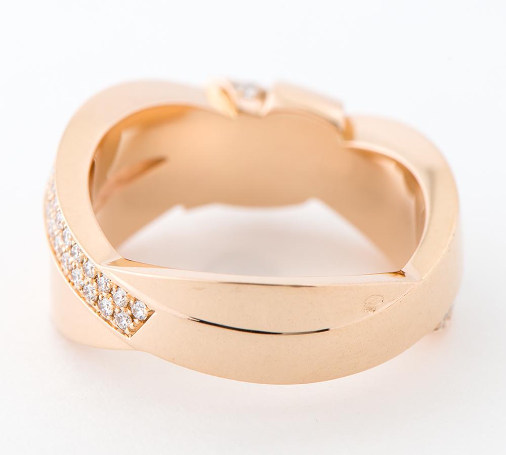 ショーメ リアン・セデュクシオン ダイヤモンド 18金ピンクゴールド 16号 リング・指輪【中古】_画像4