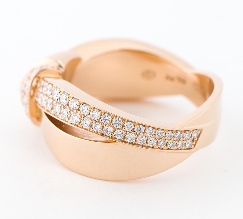 ショーメ リアン・セデュクシオン ダイヤモンド 18金ピンクゴールド 16号 リング・指輪【中古】_画像3