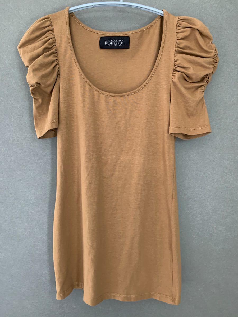 ザラ ZARA BASICS  半袖 カットソー Tシャツ