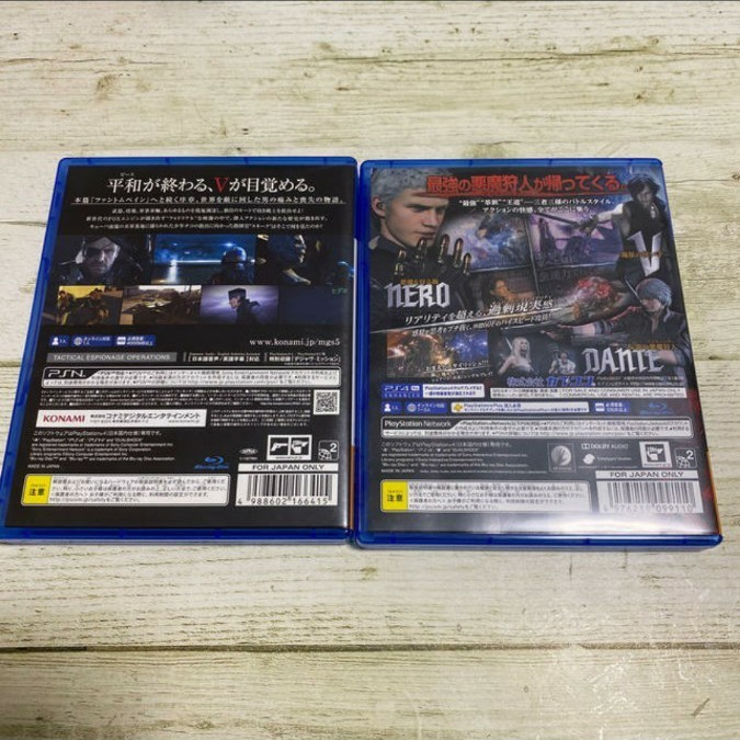 PS4 デビルメイクライV メタルギアソリッドV 二点セット