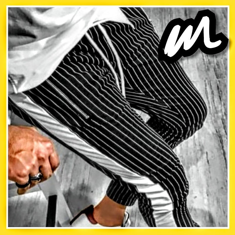 ジョガーパンツ ストリート メンズ l ジャージ スポーツ ジム ラインパンツ