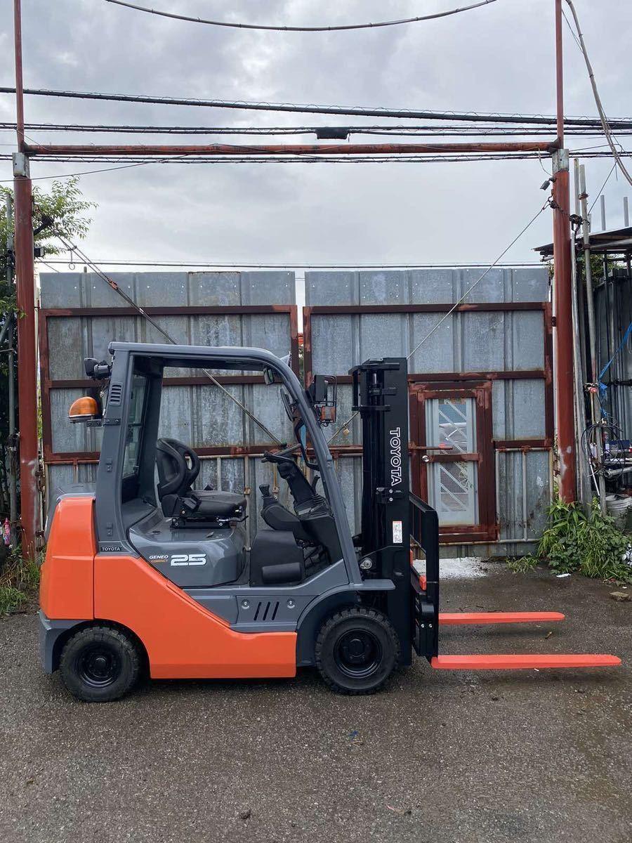 「実働品!トヨタフォークリフト GENEO25◆8FDK25◆ バッテリー新品、椅子新品」の画像2